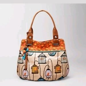Fossil Key Per Bird Cage waxed canvas Tote